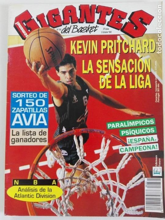 Coleccionismo deportivo: LOTE 6 Revistas GIGANTES DEL BASKET (1992/93) CON TARAS - Foto 2 - 184054957