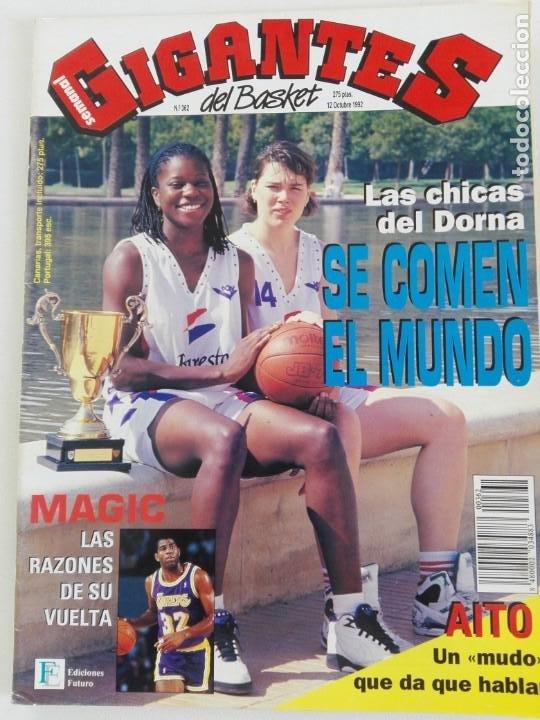 Coleccionismo deportivo: LOTE 6 Revistas GIGANTES DEL BASKET (1992/93) CON TARAS - Foto 4 - 184054957