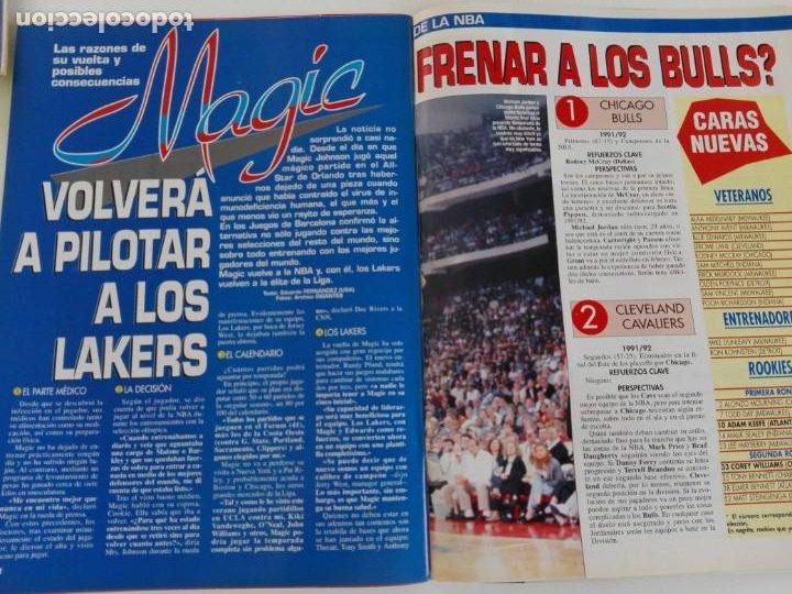 Coleccionismo deportivo: LOTE 6 Revistas GIGANTES DEL BASKET (1992/93) CON TARAS - Foto 5 - 184054957