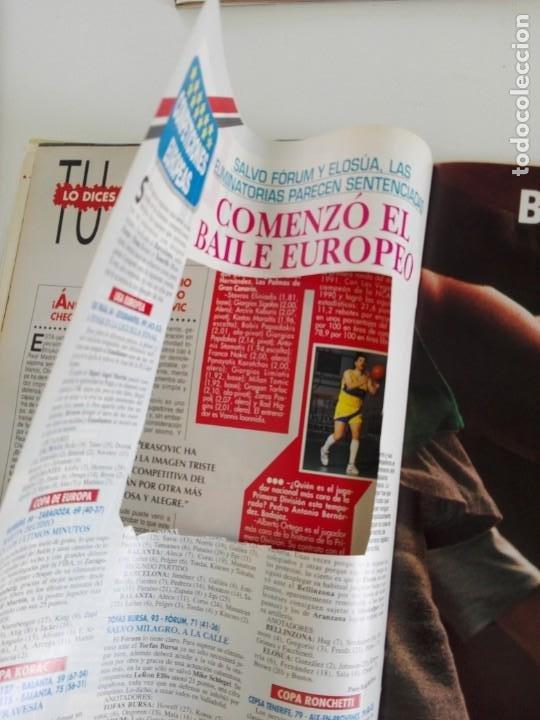 Coleccionismo deportivo: LOTE 6 Revistas GIGANTES DEL BASKET (1992/93) CON TARAS - Foto 6 - 184054957