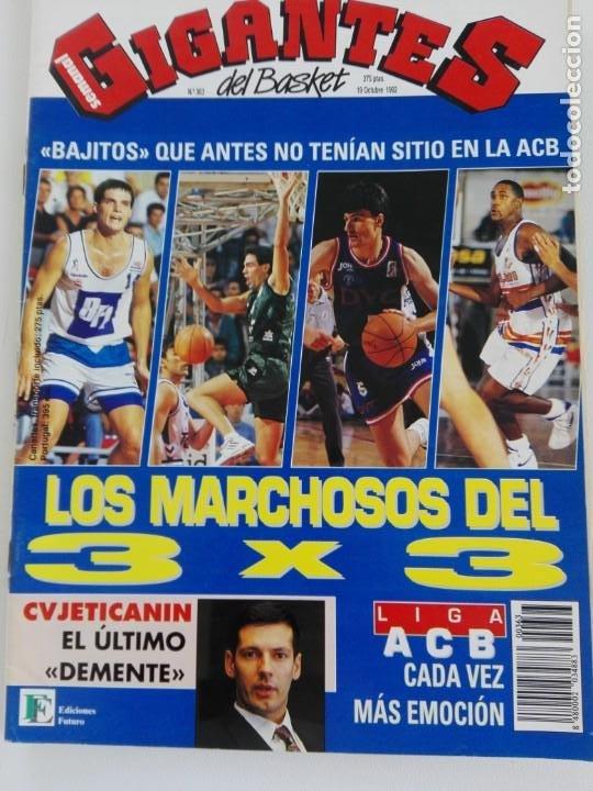 Coleccionismo deportivo: LOTE 6 Revistas GIGANTES DEL BASKET (1992/93) CON TARAS - Foto 7 - 184054957