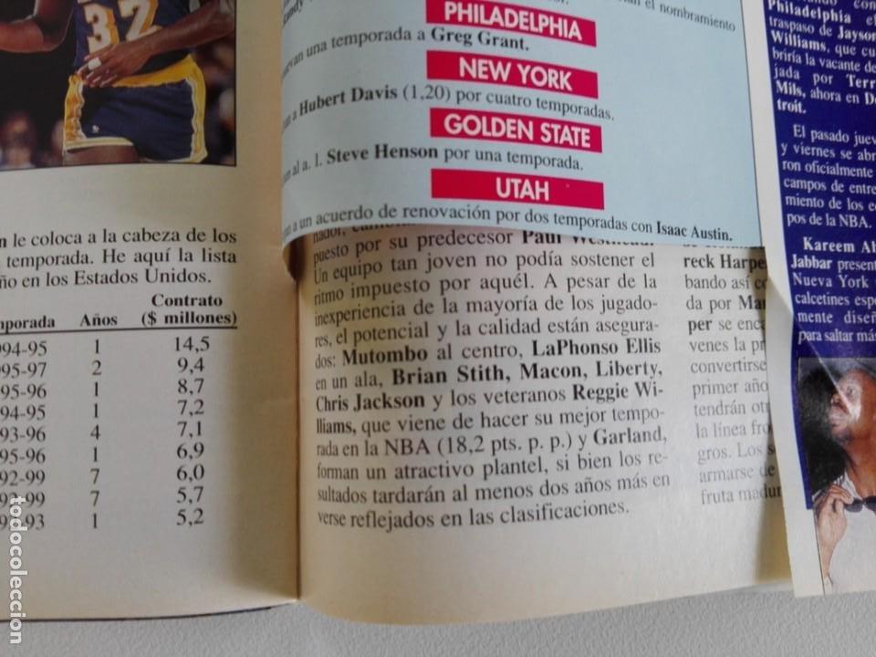 Coleccionismo deportivo: LOTE 6 Revistas GIGANTES DEL BASKET (1992/93) CON TARAS - Foto 8 - 184054957