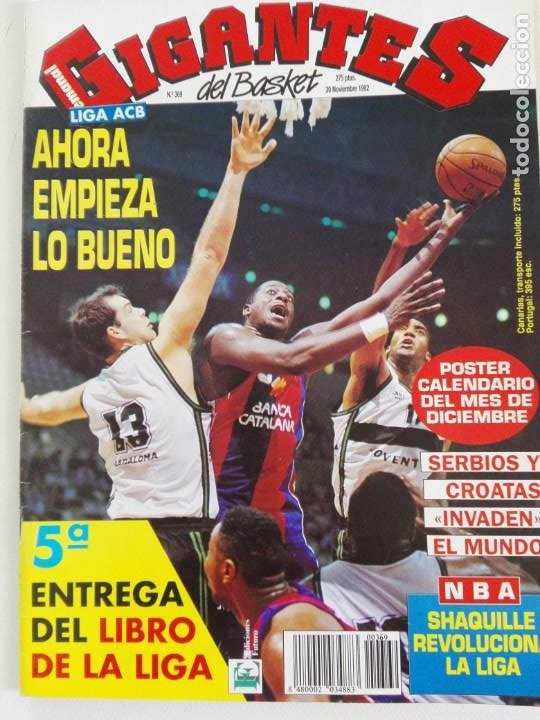 Coleccionismo deportivo: LOTE 6 Revistas GIGANTES DEL BASKET (1992/93) CON TARAS - Foto 9 - 184054957