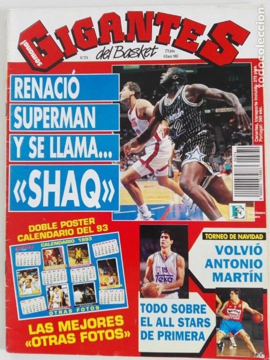 Coleccionismo deportivo: LOTE 6 Revistas GIGANTES DEL BASKET (1992/93) CON TARAS - Foto 13 - 184054957