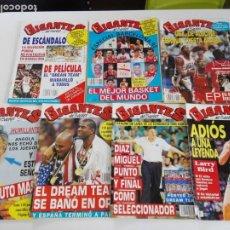 Coleccionismo deportivo: LOTE 7 REVISTAS GIGANTES DEL BASKET (1992) - DREAM TEAM BARCELONA 92 CON TARAS. Lote 184055661