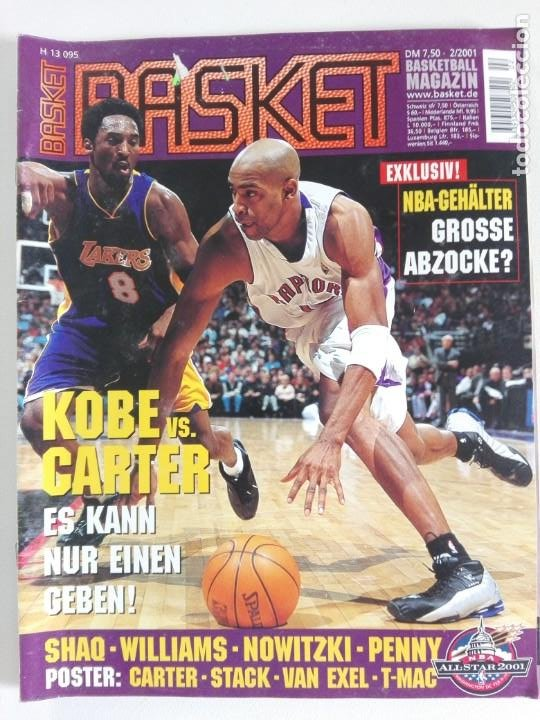Coleccionismo deportivo: Revista alemana BASKET (FEB 2001) - KOBE VS. CARTER, ALL STAR 2001 (+ 4 SUPERPOSTERS) - Foto 1 - 184056648