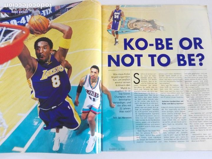 Coleccionismo deportivo: Revista alemana BASKET (FEB 2001) - KOBE VS. CARTER, ALL STAR 2001 (+ 4 SUPERPOSTERS) - Foto 4 - 184056648
