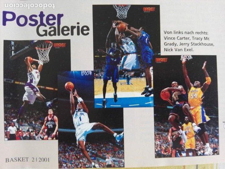 Coleccionismo deportivo: Revista alemana BASKET (FEB 2001) - KOBE VS. CARTER, ALL STAR 2001 (+ 4 SUPERPOSTERS) - Foto 6 - 184056648