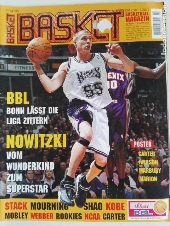 REVISTA ALEMANA BASKET (MAR 2001) - NOWITZKI, JUMP MEN (+ 4 SUPERPOSTERS) (Coleccionismo Deportivo - Revistas y Periódicos - otros Deportes)