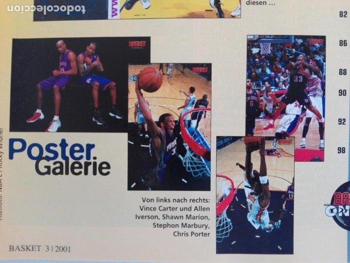 Coleccionismo deportivo: Revista alemana BASKET (MAR 2001) - NOWITZKI, JUMP MEN (+ 4 SUPERPOSTERS) - Foto 6 - 184056832
