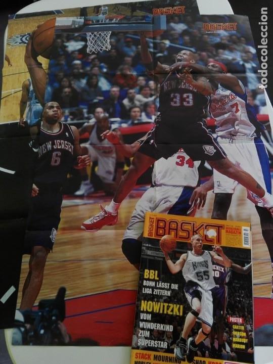 Coleccionismo deportivo: Revista alemana BASKET (MAR 2001) - NOWITZKI, JUMP MEN (+ 4 SUPERPOSTERS) - Foto 7 - 184056832