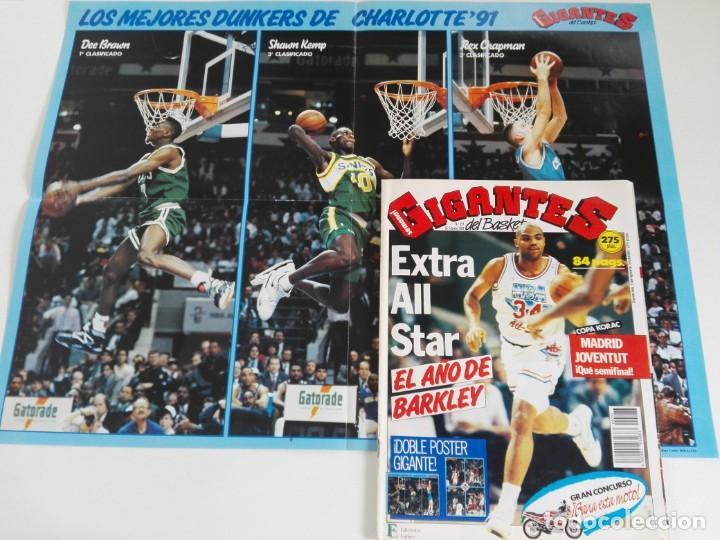 REVISTA GIGANTES DEL BASKET Nº 277 (1991) - EXTRA ALL STAR '91 + DOBLE PÓSTER GIGANTE (Coleccionismo Deportivo - Revistas y Periódicos - otros Deportes)