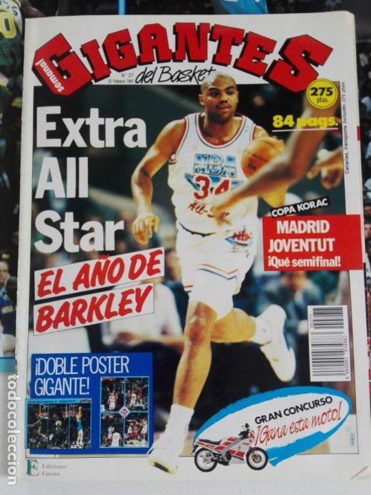 Coleccionismo deportivo: REVISTA GIGANTES DEL BASKET Nº 277 (1991) - EXTRA ALL STAR 91 + DOBLE PÓSTER GIGANTE - Foto 2 - 184058028