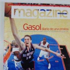 Coleccionismo deportivo: MAGAZINE (28 DE ABRIL 2002): GASOL, DIARIO DE UNA PROEZA + HALLE BERRY. Lote 184058737