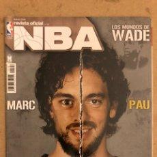 Coleccionismo deportivo: REVISTA OFICIAL NBA N° 198 (FEBRERO 2009). MARC Y PAU GASOL, DWYANE WADE, EL CUÁDRUPLE DOBLE. Lote 184062842