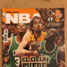 Coleccionismo deportivo: REVISTA OFICIAL NBA N° 191 (JULIO 2008). ESPECIAL FINALES NBA (CELTICS 4-2 LAKERS), NEW YORK KNICKS,. Lote 184062897