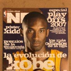 Coleccionismo deportivo: REVISTA OFICIAL NBA N° 179 (JULIO 2007). ESPECIAL PLAYOFFS, KOBE BRYANT, POSTER JASON KIDD, NOWITZKI. Lote 184062912