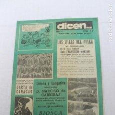 Coleccionismo deportivo: REVISTA DICEN NUMERO 48, BARCELONA 15 AGOSTO 1953. Lote 184067483