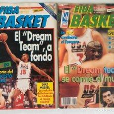 Coleccionismo deportivo: LOTE FIBA BASKET Nº 9-10 (AGO/SEP 92) - ESPECIAL JJOO BARCELONA 92 + PÓSTER DREAM TEAM. Lote 184104131