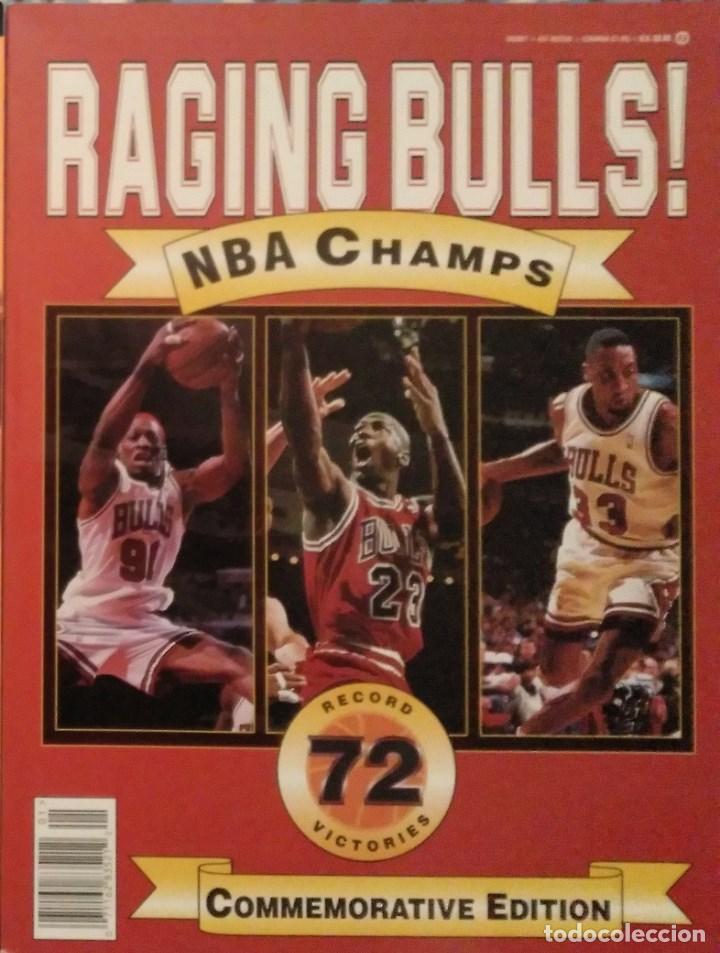 MICHAEL JORDAN - LIBRO/REVISTA ''RAGING BULLS'' - CUARTO ANILLO (1996) - NBA (Coleccionismo Deportivo - Revistas y Periódicos - otros Deportes)