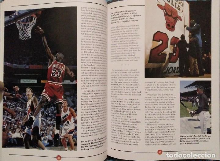 Coleccionismo deportivo: Michael Jordan - Libro/revista Raging Bulls - Cuarto anillo (1996) - NBA - Foto 6 - 184232372