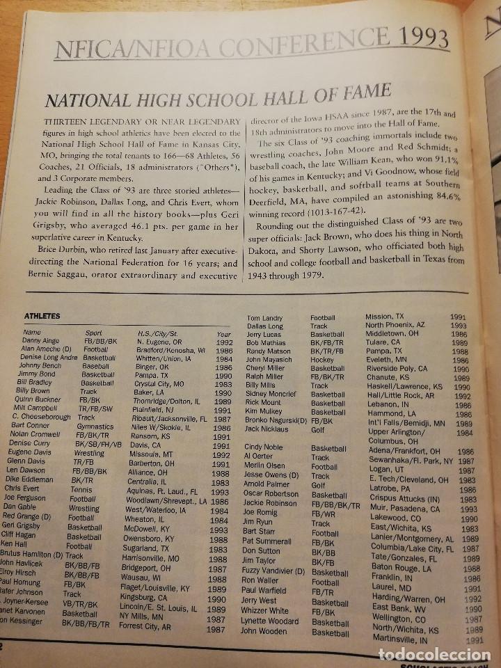 Coleccionismo deportivo: SCHOLASTIC COACH FOR THE COACH AND ATHLETIC DIRECTOR (MAY / JUNE 1993, VOL. 62 NO. 10) - Foto 7 - 185937821