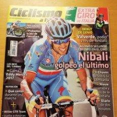 Coleccionismo deportivo: REVISTA CICLISMO A FONDO Nº 379 (AÑO 2016) NIBALI GOLPEÓ EL ÚLTIMO. Lote 185951353