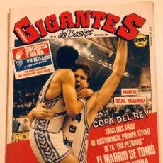 Coleccionismo deportivo: GIGANTES DEL BASKET N°160 (1988). REAL MADRID CAMPEÓN COPA DEL REY, PRIMER TÍTULO ERA PETROVIC.. Lote 186279178