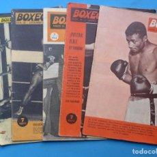 Coleccionismo deportivo: BOXEO, 6 ANTIGUAS REVISTAS, AÑO 1960 - VER FOTOS ADICIONALES. Lote 186392323