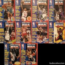 Coleccionismo deportivo: LOTE DE 10 (+1) NÚMEROS DE LA ''REVISTA OFICIAL NBA'' (1994-1996). Lote 187399701