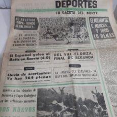 Coleccionismo deportivo: DEPORTES GACETA NORTE 1968. Lote 187417088