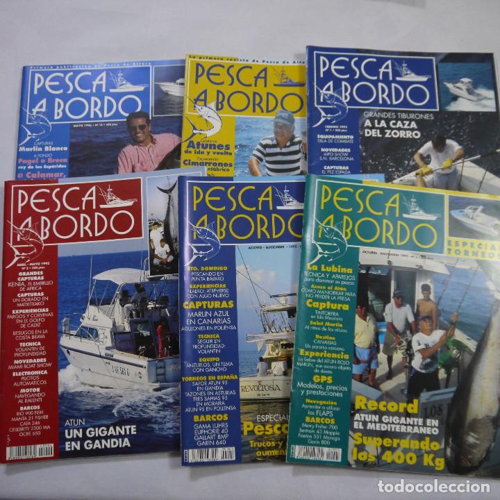 LOTE 6 REVISTAS DE PESCA A BORDO (Coleccionismo Deportivo - Revistas y Periódicos - otros Deportes)