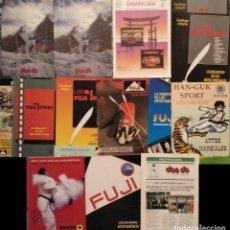 Coleccionismo deportivo: LOTE DE 13 CATÁLOGOS DE ARTES MARCIALES ''FUJI'', ''KAMAKURA'', ''KWON'', ETC. (AÑOS 90). Lote 189131242