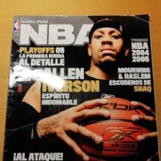 Coleccionismo deportivo: REVISTA OFICIAL NBA Nº 154 (JUNIO 2005) ALLEN IVERSON, ESPÍRITU INDOMABLE. Lote 189273258