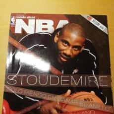Coleccionismo deportivo: REVISTA OFICIAL NBA Nº 158 (OCTUBRE 2005) AMARÉ STOUDEMIRE. INCLUYE PÓSTER DE RAY ALLEN. Lote 189273596