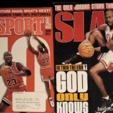 Coleccionismo deportivo: MICHAEL JORDAN - REVISTAS AMERICANAS ''SPORT'' (1993) Y ''SLAM'' (1998) - NBA. Lote 189308125