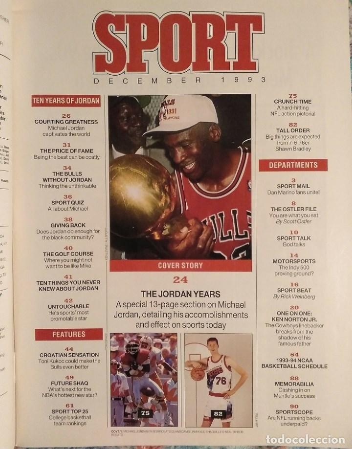 Coleccionismo deportivo: Michael Jordan - Revistas americanas Sport (1993) y Slam (1998) - NBA - Foto 2 - 189308125