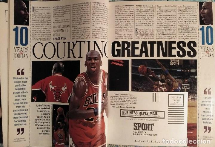 Coleccionismo deportivo: Michael Jordan - Revistas americanas Sport (1993) y Slam (1998) - NBA - Foto 4 - 189308125