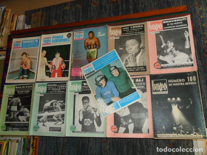 BOXEO Nº 100 EDICIÓN EXTRAORDINARIA 119 120 121 122 127 130 FEBOX 203 204 205 212 CON PÓSTER. 1966. (Coleccionismo Deportivo - Revistas y Periódicos - otros Deportes)