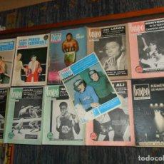 Coleccionismo deportivo: BOXEO Nº 100 EDICIÓN EXTRAORDINARIA 119 120 121 122 127 130 FEBOX 203 204 205 212 CON PÓSTER. 1966.. Lote 190128372