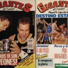 Coleccionismo deportivo: ESTUDIANTES - REVISTA ''GIGANTES DEL BASKET'' - CAMPEONES DE LA COPA DEL REY (1992). Lote 190489850