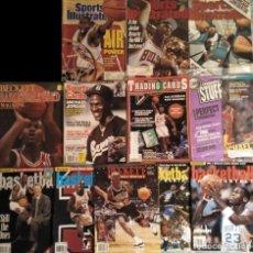 Coleccionismo deportivo: MICHAEL JORDAN - 12 REVISTAS AMERICANAS ''SPORTS ILLUSTRATED'', ''BECKETT BASKETBALL'', ETC.. Lote 190647068
