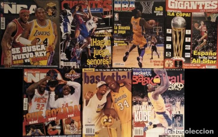 KOBE BRYANT - LOTE DE REVISTAS ''GIGANTES DEL BASKET'' Y ''REVISTA OFICIAL NBA'' (1997-2009) (Coleccionismo Deportivo - Revistas y Periódicos - otros Deportes)