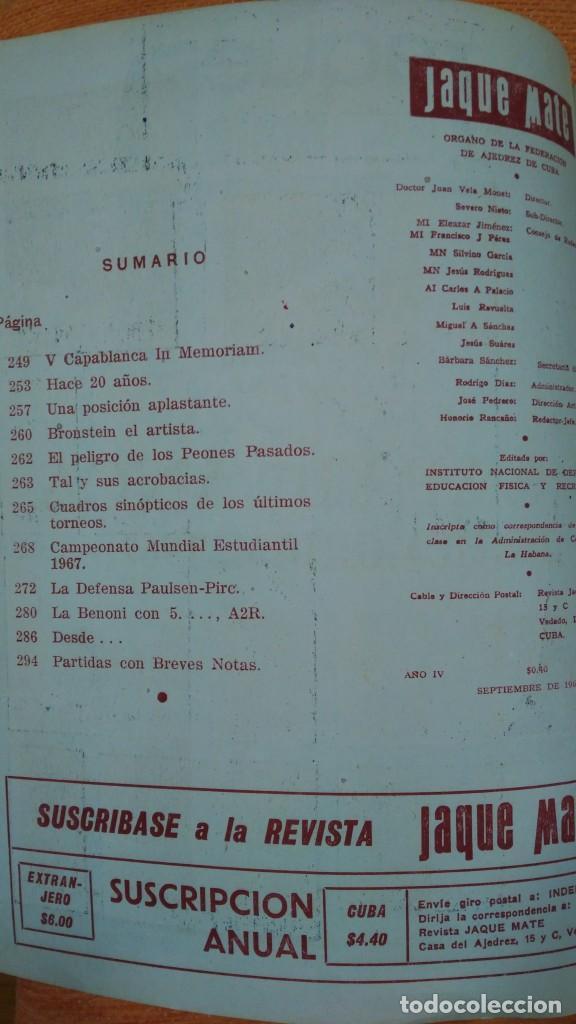 Coleccionismo deportivo: Ajedrez. Revista Jaque mate nº 9. Septiembre 1967. Cuba. - Foto 2 - 192658898
