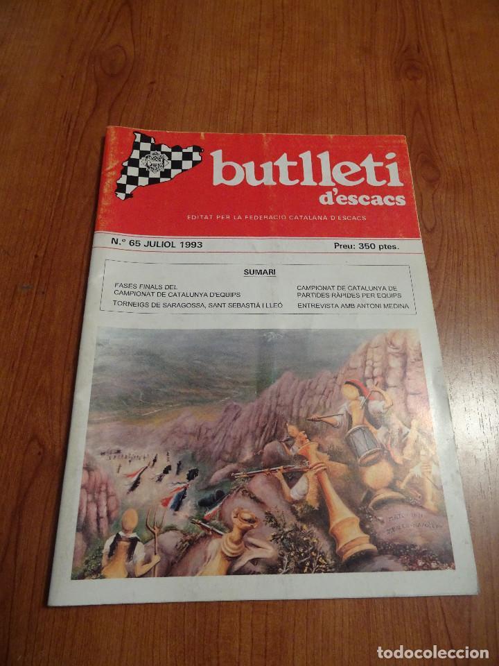 REVISTA AJEDREZ BUTLLETI ESCACS Nº 65 JULIO 1993 (Coleccionismo Deportivo - Revistas y Periódicos - otros Deportes)