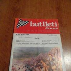 Coleccionismo deportivo: REVISTA AJEDREZ BUTLLETI ESCACS Nº 65 JULIO 1993. Lote 193756970