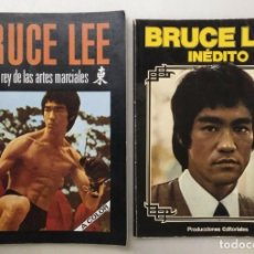 Coleccionismo deportivo: BRUCE LEE - LIBROS ''EL REY DE LAS ARTES MARCIALES'' E ''INÉDITO'' (+1). Lote 181971810