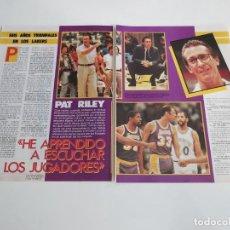 Coleccionismo deportivo: ENTREVISTA 4 PAGINAS BALONCESTO NBA PAT RILEY ENTRENADOR LOS ANGELES LAKERS F2. Lote 194247072