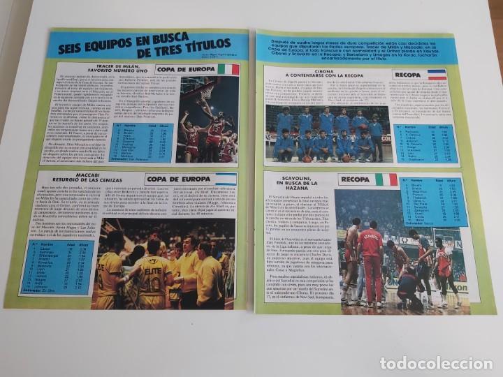 REPORTAJE 3 PAGINAS BALONCESTO DE LOS SEIS EQUIPOS FINALISTAS EN COPA DE EUROPA,RECOPA Y KORAC F2 (Coleccionismo Deportivo - Revistas y Periódicos - otros Deportes)