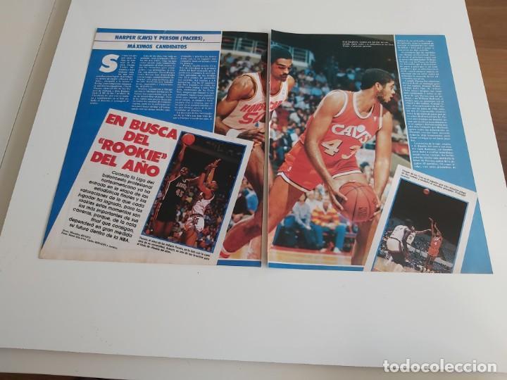 REPORTAJE 4 PAGINAS BALONCESTO NBA SOBRE ROOKIE DEL AÑO HARPER(CAVS) O PERSON(PACERS) F2 (Coleccionismo Deportivo - Revistas y Periódicos - otros Deportes)